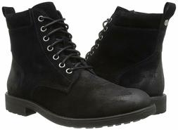 206 Collective Men's Denny Lace-up Motorcycle Boot, Black Bu