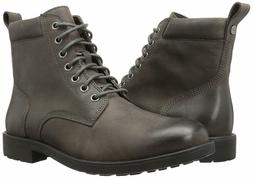 206 Collective Men's Denny Lace-up Motorcycle Boot, Charcoal