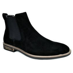 BRUNO MARC Mens Flat Suede Leather Chelsea Chukka Dress Ankl