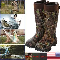 HISEA Men's Hunting Work Boots Waterproof & Insulated Rubber