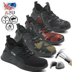 Men's Steel Toe Work Boots Defense Safety Shoes Lightweight