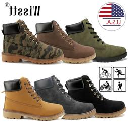 Men's Martin Boots Outdoor Waterproof Leather Lace up Casual