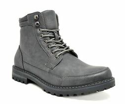 BRUNO MARC NEW YORK Men's Military Motorcycle Combat Boots E