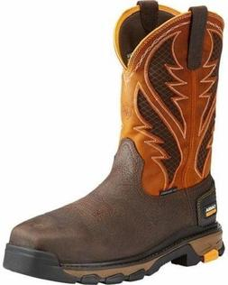 Ariat Men's Orange Intrepid VentTEK Work Boot - Composite To