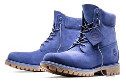 Timberland Men's Premium 6 inch Blue Leather LIMITED RELEASE