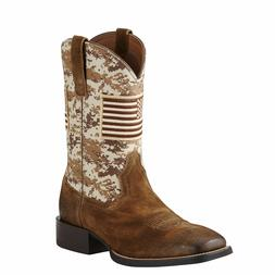 ARIAT Men's Sport Camouflage Camo Patriot Square Toe Western
