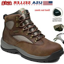 NORTIV 8 Men's  Steel Toe Boots Work Safety Protection Water