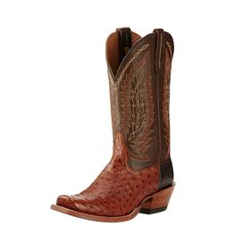 Ariat® Men's Super Stakes Brandy Full Quill Ostrich Boots 1