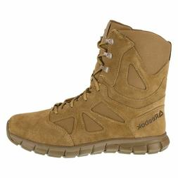 Reebok Sublite Tactical Military Army Boots Men 8 Inch Coyot