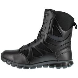 Reebok Men's Tactical Military Boots Black 8 Inch Side Zip S