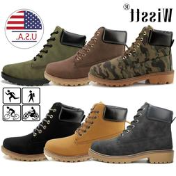 Men's Waterproof Martin Boots Outdoor Leather Hiking Lace up