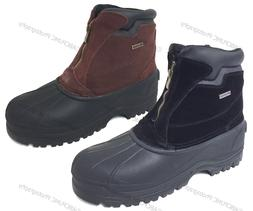 Men's Winter Snow Boots Leather Zipper Thermolit Insulated W