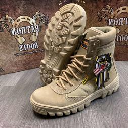 MEN'S WORK BOOTS COMBAT TACTICAL SLIP RESISTANT MILITARY STY