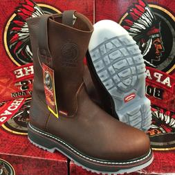 MEN'S WORK BOOTS APACHE GENUINE LEATHER BROWN ICE COLOR SOLE