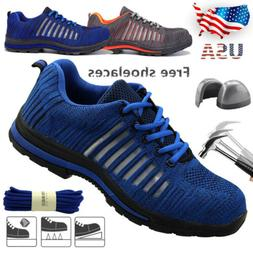 Men's Work Boots Safety Shoes Steel Toe Cap Sneakers Lightwe