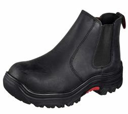 Skechers Men's Work Memory Foam Burgin Glennert Slip On Boot