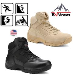 NORTIV 8 Men's Zip Military Tactical Boots Motorcycle Combat