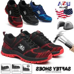 Men Safety Work Shoes Steel Toe Boots Outdoor Sneakers Hikin