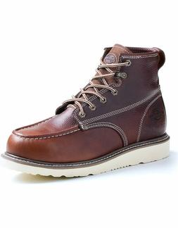 Dickies Men Trader Burgundy Soft Toe Work Boots DW7312