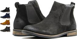 MEN WALLACE CHELSEA ANKLE BOOTS DESERT MARTIN GENUINE LEATHE