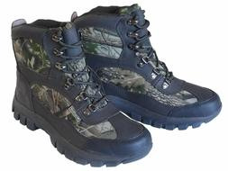 MEN WATERPROOF CAMOUFLAGE HUNTING WORKING BOOTS WIDE FIT LEA
