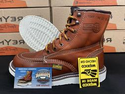 mens 6 soft moc toe safety oil