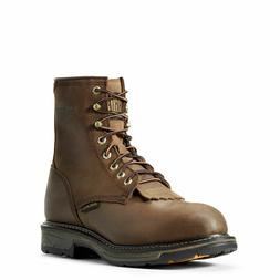 MENS ARIAT 8 INCH LACE UP WORKHOG H20 COMPOSITE TOE WORK BOO