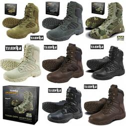 Mens Army Combat Military Tactical Pro Boot Hiking Brown Bla