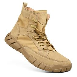 Mens Army Tactical Comfort Leather Combat Military Ankle Boo