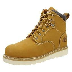 "Dickies Mens Bearcat 6"" Soft Toe Work Boot Wheat Leather Tan"