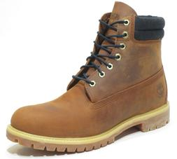 Timberland Mens Brown 6 Inch Double Sole Premium Leather Wor