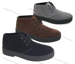 Mens Chukka Boots Casual Wallace Lace-up Desert Leather Line