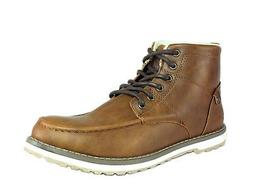 Global Win  Mens Classic Winter  Brown Leather Boot US-9