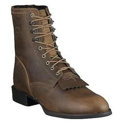 Ariat Mens Heritage Lace Up Roper Cowboy Boot Lacer Distress