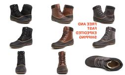 Mens Insualted Boots Wool-Lined Weather Proof Comfortable Gl