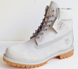 mens light gray 6 inch premium leather