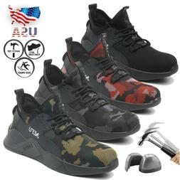 Mens Lightweight Steel Toe Cap Safety Shoes Work Boots Mesh