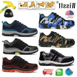 Mens Lightweight Work Safety Shoes Indestructible Steel Toe