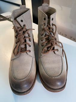 Frye mens Phillip Lug Work Boots Size 11 in Cement color.