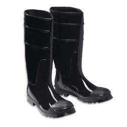 Mens PVC Rubber Steel Toe Boots Water proof and chemical res