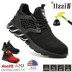 Mens Safety Shoes Steel Toe Work Boots Indestructible Sport