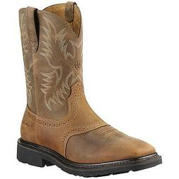 Ariat Mens Sierra Wide Square Toe Cowboy Work Boot Aged Bark