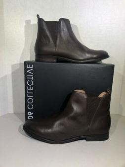 206 Collective Mens Size 12 Dark Brown Leather Chelsea Ankle