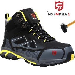 LARNMERN Steel Toe Work Safety Boots For Men Protective Indu