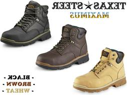 Mens Texas Steer Work Boots Steel Toe Maximus Safety Shoes S