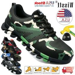 Mens Work Safety Shoes Steel Toe Boots Indestructible Sneake