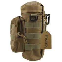 LOVOUS Military MOLLE Tactical Travel Water Bottle Kettle Po