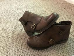 n5 comfort womens brown leather monk strap