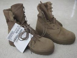 NEW! ARMY COMBAT BOOTS Hot Weather COYOTE style 798 Vibram S