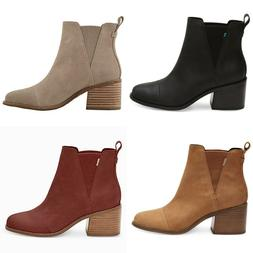 NEW AUTHENTIC TOMS WOMEN'S  ESME ROUND TOE ANKLE BOOTS, US S